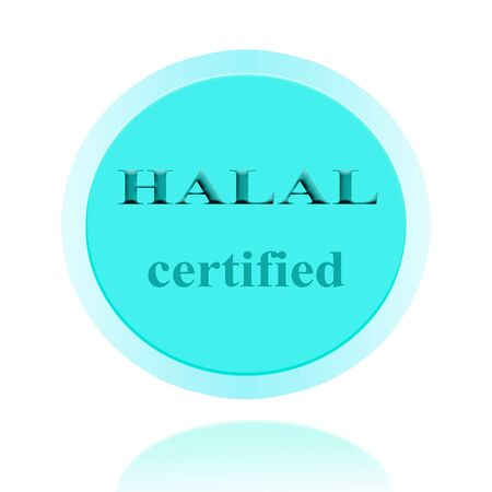 certify: HALAL certified icon or symbol image concept design with business women for business concept. business concept