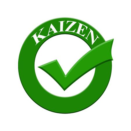 kaizen: KAIZEN  icon or symbol image concept design with business women for business concept. business concept Stock Photo