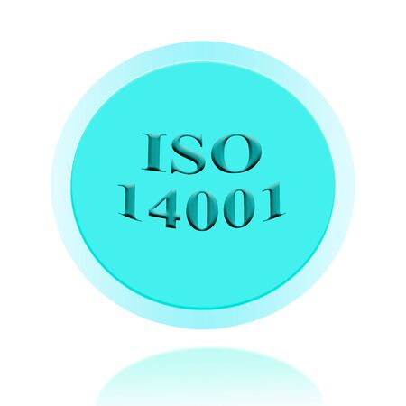 ISO14001 certified icon or symbol image concept design with business women for business concept. business concept