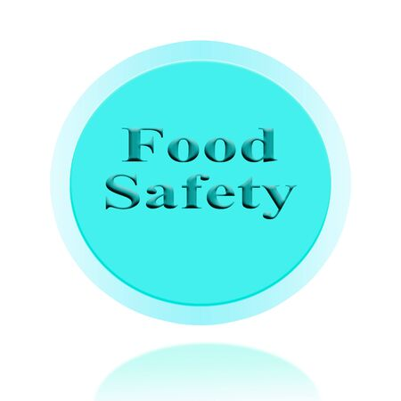 food safety: Food Safety icon or symbol image concept design with business for business concept. concept for stickers, banners, cards, advertisement. Stock Photo
