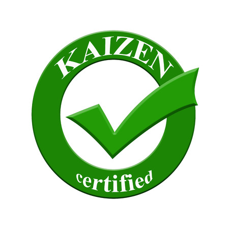 KAIZEN certified icon or symbol image concept design with business women for business concept. business concept