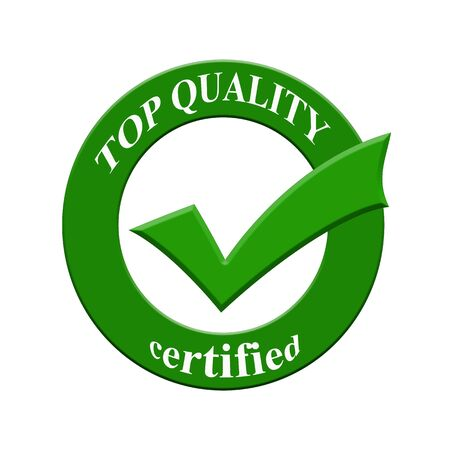 certify: Top quality certified icon or symbol image concept design with business women for business concept. business concept