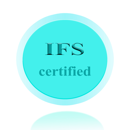 certify: IFS certified icon or symbol image concept design with business women for business concept. business concept