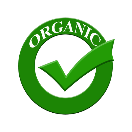 Organic certified icon or symbol image concept design with business women for business concept. business concept