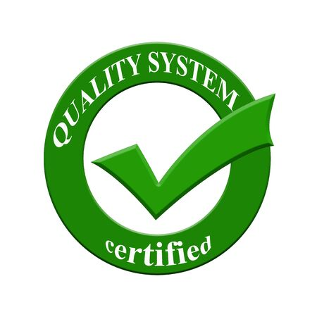 quality icon: Quality system certified icon or symbol image concept design with business women for business concept. business concept