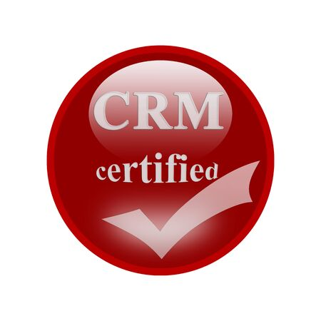 CRM certified icon or symbol image concept design with business women for business concept. business concept