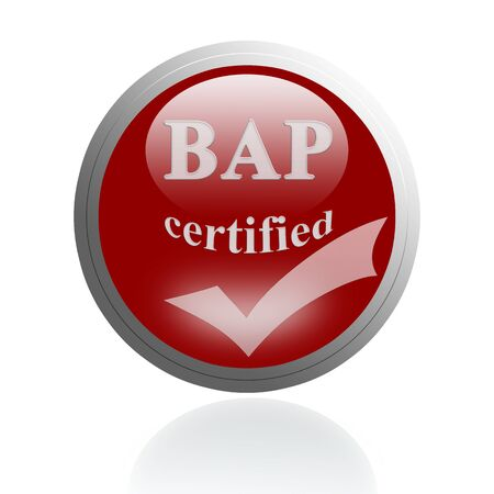 bap: BAP certified icon or symbol image concept design for business and use in company system.