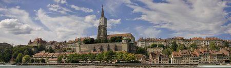 wasser: Panorama Church of Berne-Switzerland Stock Photo