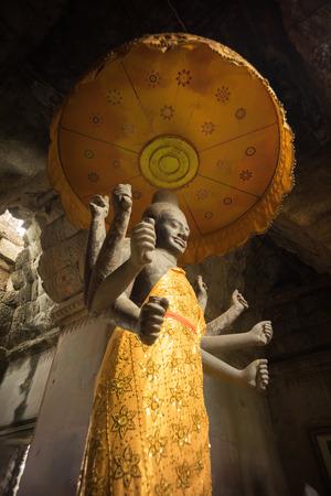 vishnu: God Vishnu scluture in ankor wat