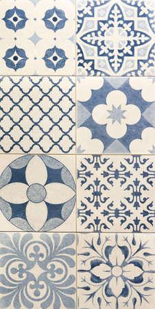 blau Mosaik-Fliesen