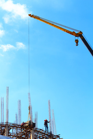 buildingsite: construction site blue background