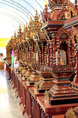 lanna: mini pagoda of lanna thailand Stock Photo