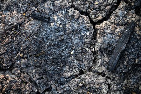 la quemada: agrietada y de la tierra quemada