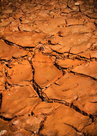 malnutrition: cracked earth in arid location Stock Photo