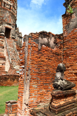 ancient place in ayutthaya historical park this place age up near 500 year ago