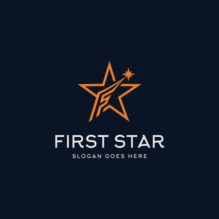 Letter F star logo design inspiration