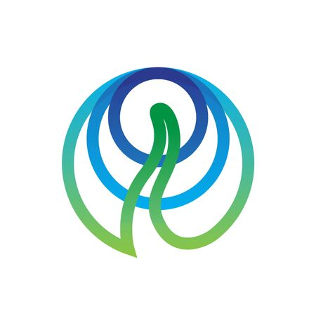abstract circle seed plant water logo design Foto de archivo - 126515597