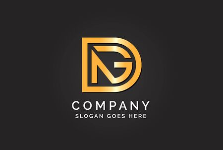 Luxury initial letter DAG golden gold color logo design. Tech business marketing modern vector Stock Illustratie