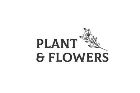 Vintage hand drawn plants floral logo design