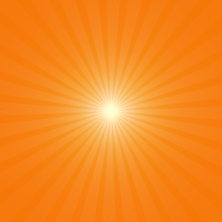 abstract background orange yellow sky with rays photo