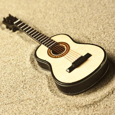 spanish guitar: spanish guitar in the sand