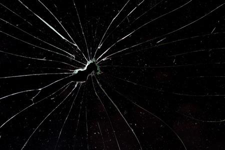 broken  glass black background