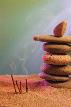 frankincense: tower of stones and frankincense in the sand