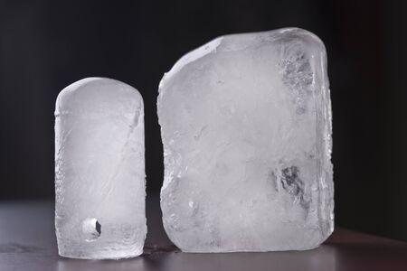 ecologic: two ecologic alum deodorant crystal in black background