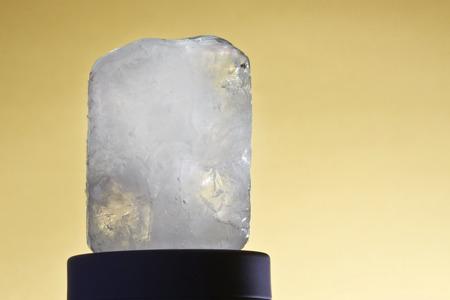 ecologic: one ecologic deodorant crystal in black-ground yellow