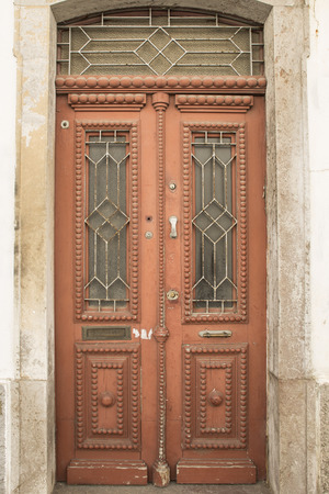 oldened: Old red doors Stock Photo