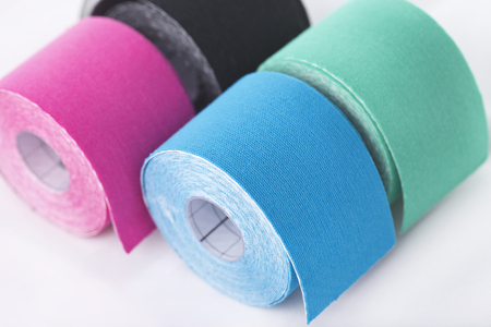 This kind of taping is called kinesiotape