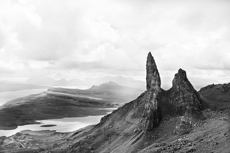 Old Man of Storr rock formation . Isle of Skye, Scotland.