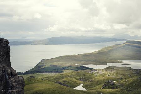 Old Man of Storr landscape  . Isle of Skye, Scotland. Stock Photo