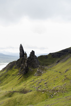 Old Man of Storr rock formation . Isle of Skye, Scotland.