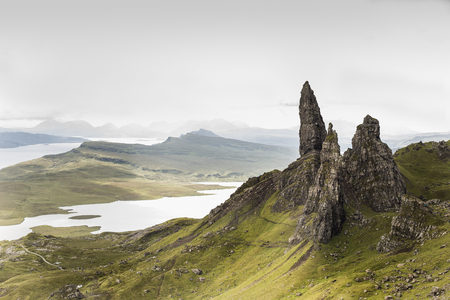 Old Man of Storr rock formation. Isle of Skye, Scotland. Stock Photo