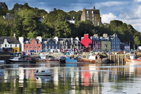 Tobermory town, capital of the Isle of Mull in the Scottish Inner Hebrides, Scotland, United Kingdom, Europe