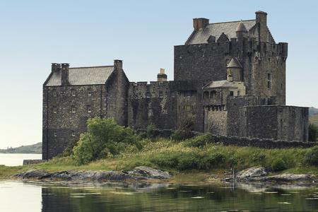 Eilean Donan Castle during a beautifull summer day - Dornie, Scotland - United Kingdom Editorial