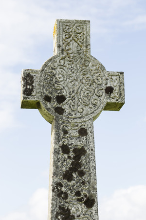 old cross at a Celtic cemetery