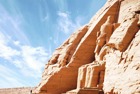 Egyptian temple of Abu Simbel, Egypt