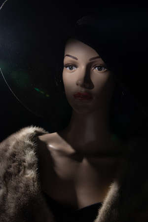 mannequin set in film noir