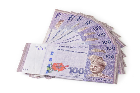 Malaysia currency  RM100 Imagens