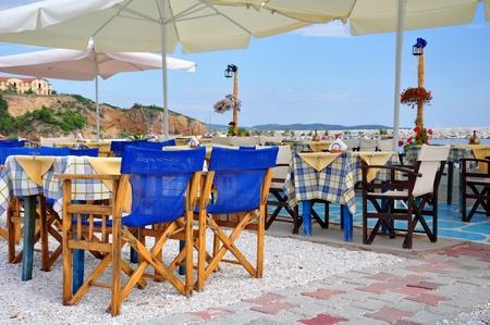 Traditionall Greek tavern, island Thassos, Greece  photo