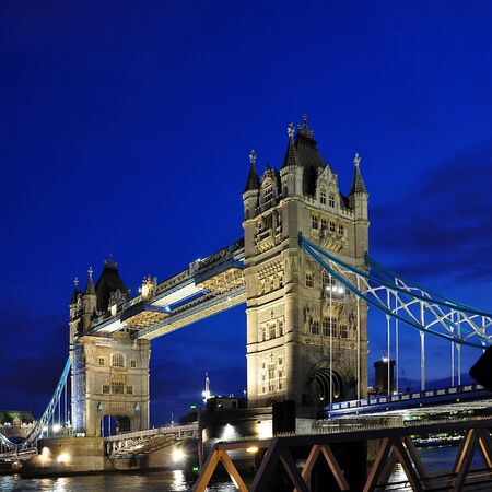 reflection of life: Tower Bridge at night, London