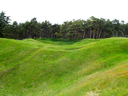craters: Craters in no-mans land at Vimy Ridge Stock Photo