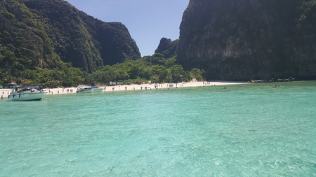 View of the famous Mayan beach