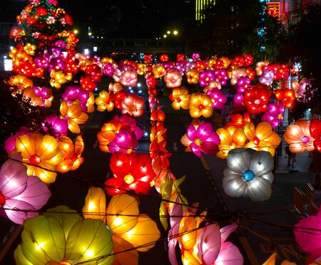 paper lantern: Chinese paper lantern light Stock Photo