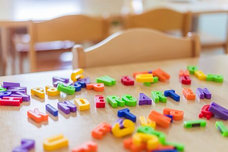 """Colorful letters with the word """"Kindergarten"""" 免版税图像"""