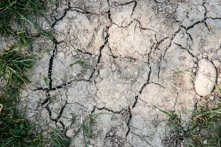 Dry soil on an agriculture field, drought