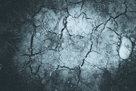 Dry soil on an agriculture field, drought Banque d'images