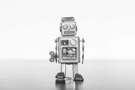 Symbol for a chatbot or social bot and algorithms